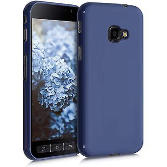 Hülle kompatibel mit Samsung Galaxy Xcover 4 / 4S - Hülle Handyhülle - Handy Case in Heidelbeerblau