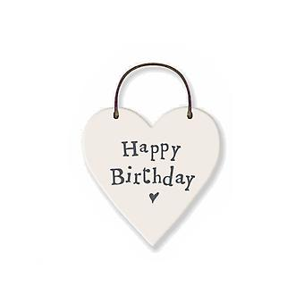 Happy Birthday Mini Wooden Hanging Heart - Cracker Filler Gift