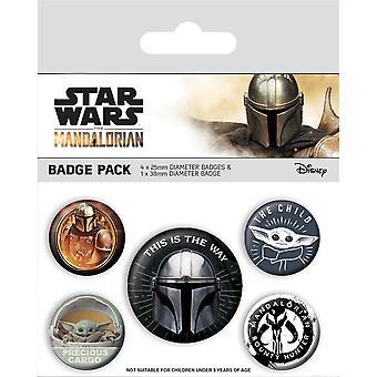 Star Wars: Die mandalorianische Dies ist der Weg Abzeichen Set (Pack von 5)
