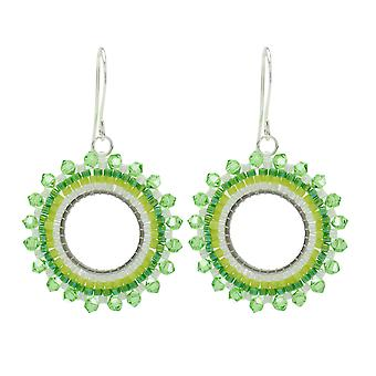 Brick Stitch Burst Earrings in Lime Coolada - Exclusive Beadaholique Jewelry Kit