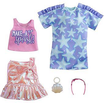 Barbie dukke mote pakke - stjerne skjorte kjole og mer