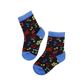 Musical Notes Pattern Cotton Socks
