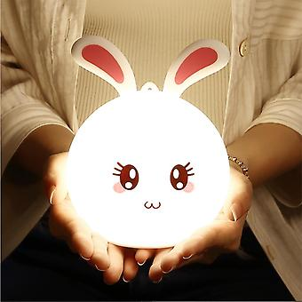 Led Rechargeable Cute Rabbit Silicone Pat Light