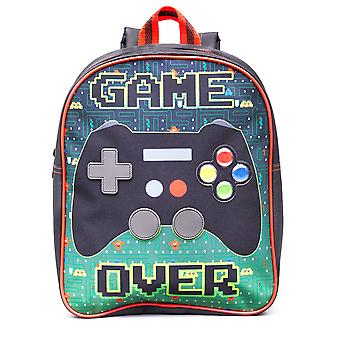 Boys Game Over Retro Gaming Green Childrens Backpack