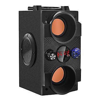 Big Power Outdoor Wireless Subwoofer Boombox Column Portable  Radio|Portable Speakers(Black)