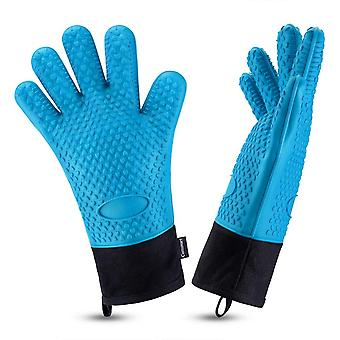 Barbecue Gloves Heat-resistant Silicone Grilling Gloves Waterproof Kitchen Gloves