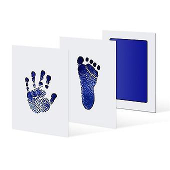 Unisex Baby und Kleinkind Hand- und Fußstempel Druck DIY Kit (Blau)