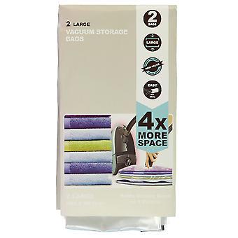 Stanford Home 2 Pack Large Vacuum Bag Plastic Food Storage Zip Seal