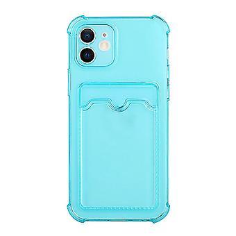 Iphone13 حالة الهاتف المصغر / شفافة حالة بطاقة حالة الهاتف (الأزرق شفاف)