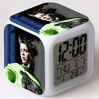 Colorful Multifunctional Led Alarm Clock - Billie Eilish