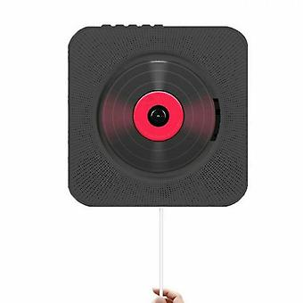Caraele Wall Mounted Cd Player Surround Sound Fm Radio Bluetooth Usb Mp3 Disk Portable Music Player Remote Control Stereo Speaker Home