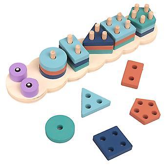 Tre blokk leketøy baby tre geometriske former sortere matematiske leker