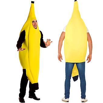 Aantrekkelijke banaan kostuum volwassen set voor Halloween dress up cosplay