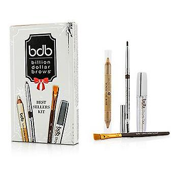 Billion Dollar Brows Best Sellers Kit: 1x Universal Brow Pencil 0.27g/0.009oz 1x Brow Duo Pencil 2.98g/0.1oz 1x Smudge Brush 1x Brow Gel 3ml/0.1oz - 4pcs