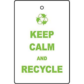 Kalmte bewaren en Recycle auto luchtverfrisser