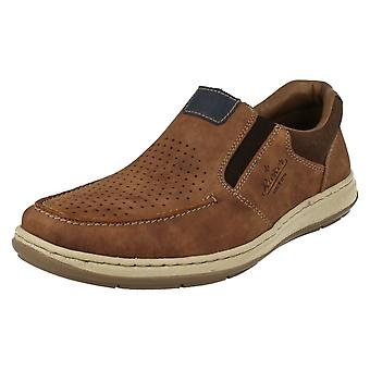 Mens Rieker Moccasin Style Slip On Shoes 17367