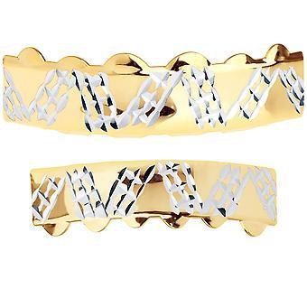 جريلز الذهب-مقاس واحد يناسب الجميع--قطع الماس بلايت-مجموعة