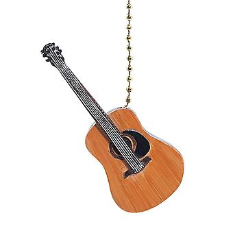 Musical Musician Guitar Decorative Ceiling Fan Light Pull 3 Dimensional