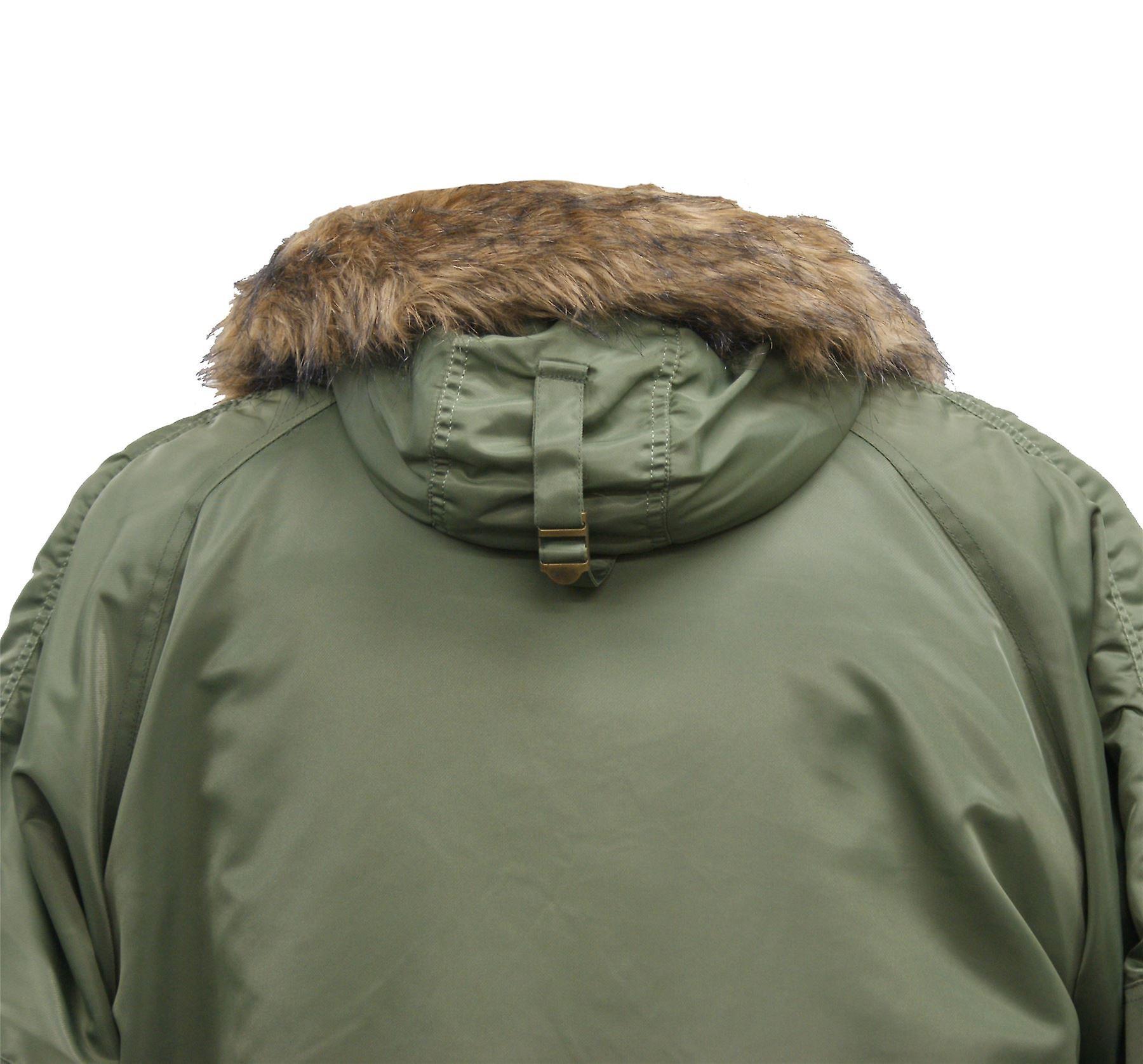 Army Military N3B Bomber Flight Jacket Brown Fur