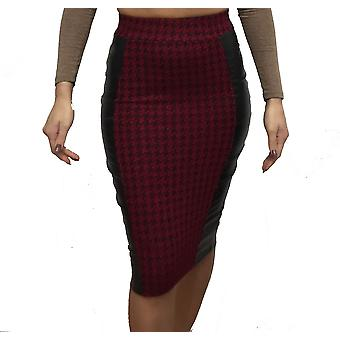 Womens Evening Houndtooth Midi Skirt