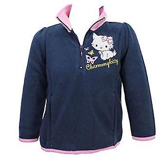 Hello Kitty flickor halv Zip Fleece tröja