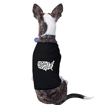 Ik hou van USA kaart uniek Design huisdieren Graphic Tee Shirt voor 4 juli