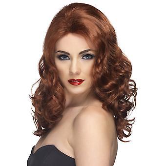 Glamorous wig Auburn land and wavy