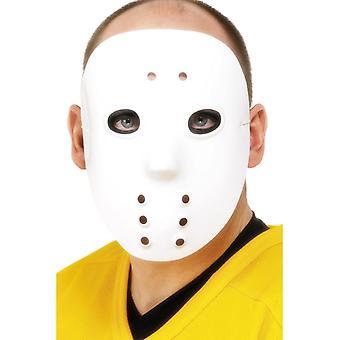 Hockey maske hvit PVC