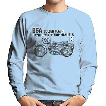 Haynes Owners Workshop Manual BSA A10 650 Golden Flash Men's Sweatshirt