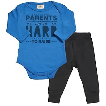 Spoilt Rotten Psrents Hard To Raise Babygrow & Jersey Trousers Outfit Set