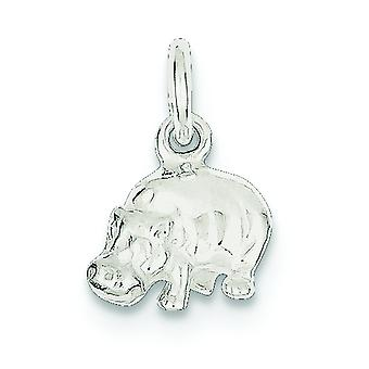 925 Sterling Silver Solid Polished Hippo Charm Pendant Necklace Jewelry Gifts for Women - 2.0 Grams