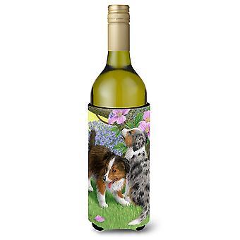 Szczenięta Owczarek Szetlandzki wino butelka napoju izolator Hugger