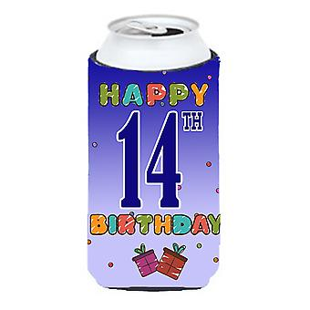Happy 14th Birthday Tall Boy Beverage Insulator Hugger