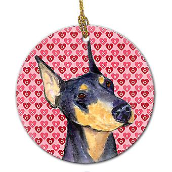 Carolines Schätze SS4495CO1 Dobermann Keramik Ornament