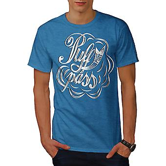 Puff 42 Canabis Rasta Men Royal BlueT-shirt | Wellcoda