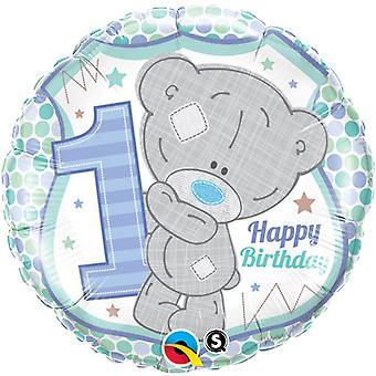 Qualatex 18 Inch Me To You Tatty Teddy Happy 1st Birthday Circular Foil Balloon