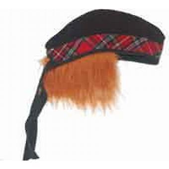 Novelty Glengarry Hat with Tartan Trim