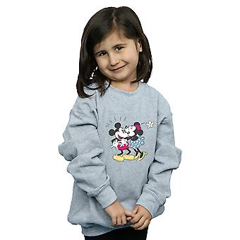 Disney Girls Mickey And Minnie Mouse Kiss Sweatshirt