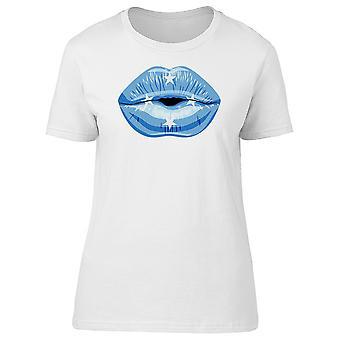Lèvres avec des États de Micronésie drapeau Tee femmes-Image de Shutterstock