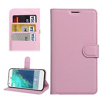 Bookcover Pocket wallet design for Google pixel 5.0 cover case pink