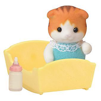 Sylvanian Familie 5291 Ahorn Katze Baby Figur Set