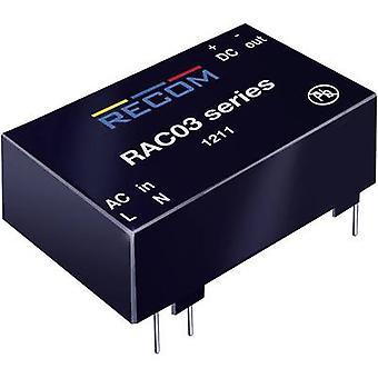 AC/DC PSU (Print) RECOM RAC03-12SC 12 V DC 0,25 A 3 W