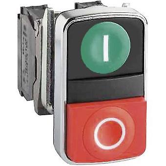 Schneider Electric Harmony ZB4BA7341 Dubbele kopknop Planar 2-knop Groen, Red Push 1 pc(s)