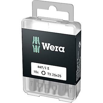 Wera 867/1 Z DIY SiS Torx bit T 25 verktygsstål legerat, härdat D 6,3 10 st (s)