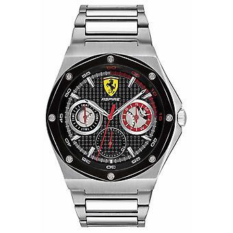 Scuderia Ferrari Mens Aspire inoxidável aço mostrador preto Data Display 0830535 Watch