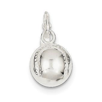 925 στερλίνα ασημένια στερεά κοίλα στιλβωμένο μπέιζμπολ γοητεία κρεμαστό κόσμημα κολιέ κοσμήματα για τις γυναίκες