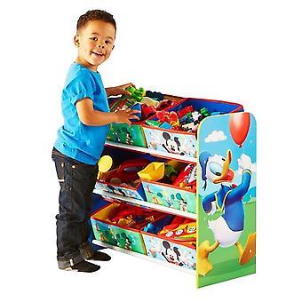 Estantería con cajas de madera juguetería Disney Mickey Mouse