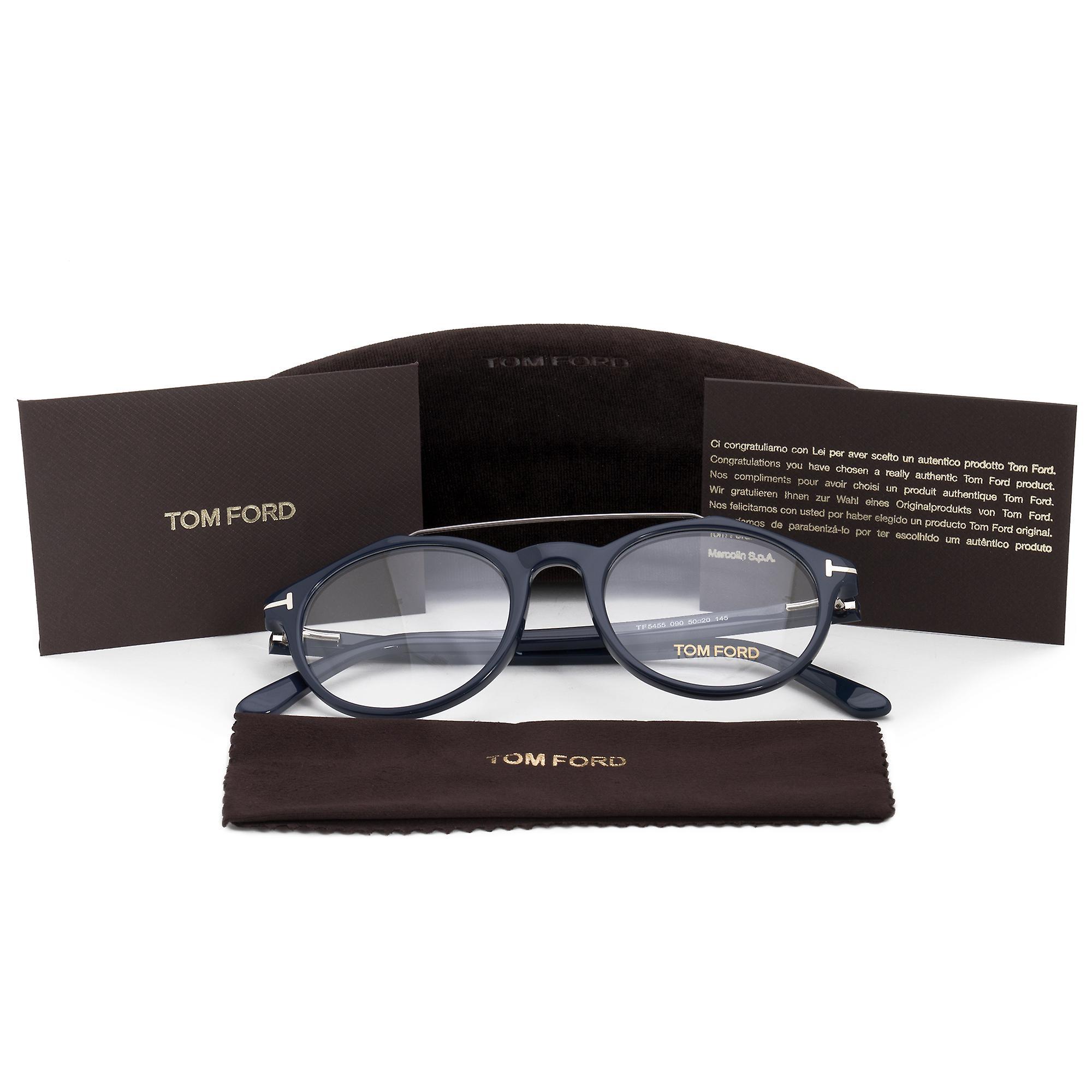 Tom Ford FT5455 90 runde | Blå | Øyeglasset rammer