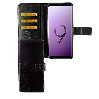 Samsung Galaxy S9 plus telefon komórkowy pokrowiec ochronny pokrycie Flip case + przedziału czarny