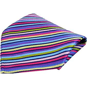 Posh and Dandy Thin Striped Luxury Silk Pocket Square - Multi-colour